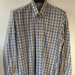 Large Peter Millar Designer Button Down Shirt LS